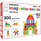 Play Poco Magnetic Imagination Shapes - with 102 Magnetic Shapes, 2 Magnetic Boards, 340 Design Booklet, 2 Display Stands