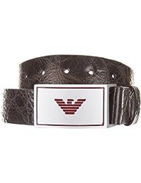 Armani Jeans cinturón de hombre en piel nuevo placca marrón