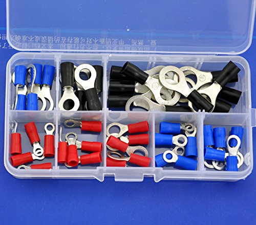 Electronics-Salon 9 Arten Ring Crimp Draht Terminal Sortiment Kit, CONNECTOR, vinyl-insulated. -