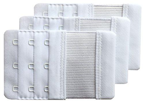 Chanie Damen Packung mit 3 Weich Komfortabel Erweiterung 3 Haken BH-Verlängerer, 9,4cm x 5,6cm