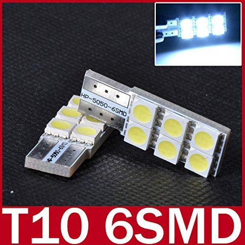 Oxita (TM) 5x Lampada LED T10194168W5W 50506LED SMD Bianco auto Side cuneo non polarità Lampada Lampadina per benz BMW AUDI Porsche - Bmw Coda Lampadina