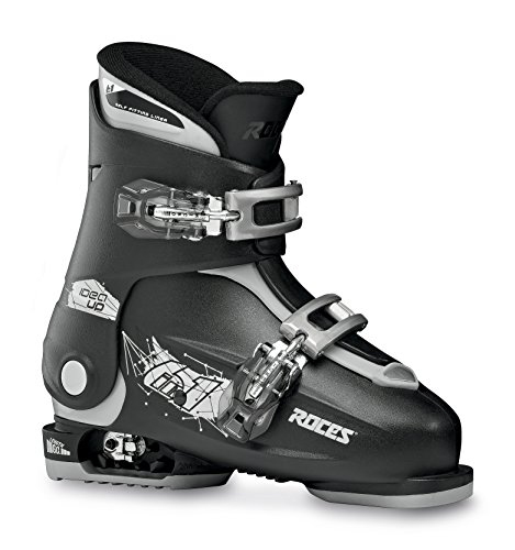 Roces Kinder Skischuhe Idea Up Größenverstellbar Verstellbarer Kinderskischuh Black/Silver 30-35