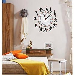 ufengke® Silueta Del Baloncesto Reloj de Pared Pegatinas de Pared, Sala de Estar Dormitorio Removible Etiquetas de la Pared / Murales