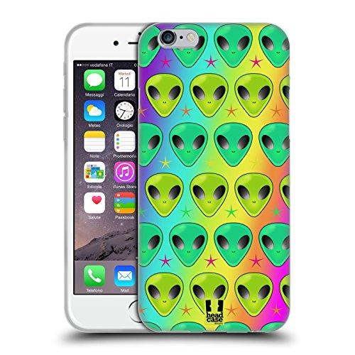 Head Case Designs Humains De Base Alien Emoji Étui Coque en Gel molle pour Apple iPhone 5 / 5s / SE Modèle D'arc-En-Ciel