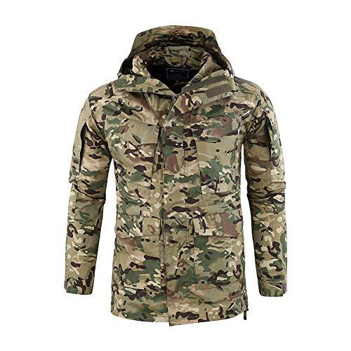 Bovake Herren Mantel Taktische Jacke Arbeitskleidung Parka Strickjacke Sweatshirt Pullover Hoodie Freizeit Tops Casual Longsleeve