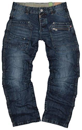 Timezone Herren Jeans Clay 3983 Urban Indigo Wash Cargo Worker (W34/L32)