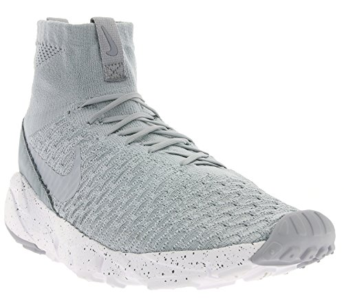 Nike Air Footscape Magista Flyknit, Chaussures de Foot Homme, Gris Gris (Wolf Grey / Wolf Grey-Cool Grey)