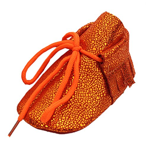 leap frog  Bling Leather Mocassins, Baby Jungen Krabbelschuhe & Puschen Orange