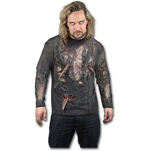 Spiral Zombie Wrap Langarmshirt schwarz L -