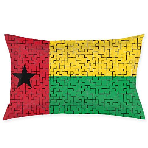Check-standard Pillow Sham (Nifdhkw Guinea-Bissau Flag Puzzle Kopfkissenbezüge Decorative Pillow Covers Soft and Cozy, Standard Size 20