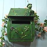 PLL Europäischen Stil Briefkasten Pastoralen Stil Retro Hängenden Wand Mit Schloss Briefkasten Wasserdichte Outdoor Mailbox