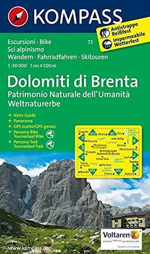 Gruppo di Brenta: Wandern, Rad und Skitouren. 1:50.000 -