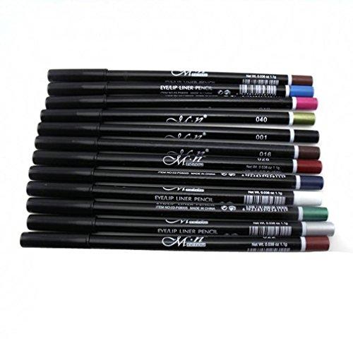 LHWY 12 couleurs sourcils paillettes ombre lèvres EyeLiner crayon stylo cosmétiques kit de maquillage ki