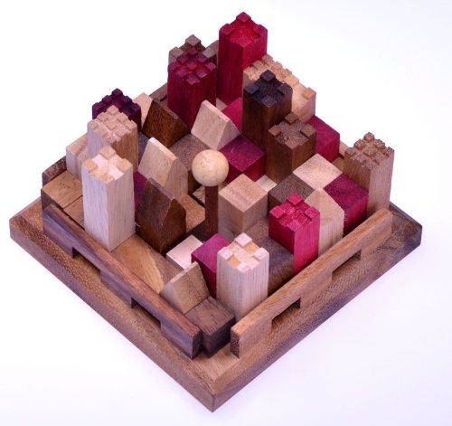 castle burg 3d puzzle denkspiel knobelspiel geduldspiel logikspiel aus holz mit. Black Bedroom Furniture Sets. Home Design Ideas