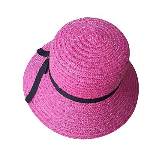 LANSKRLSP Cappello da Sole Donna Cappello da Spiaggia Estate Cappello di Paglia Cappuccio di Protezione Solare cap Protezione UV