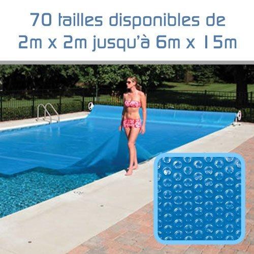 Linxor ® Cubierta a Burbujas a Medida para Piscina 300 micras / 70 tamaños Disponibles/Norma CE
