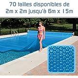 Linxor Cubierta a burbujas a medida para piscina 300 micras/70 tamaños disponibles/Norma