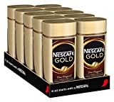NESCAFÉ Gold Original, löslicher Kaffee, 10er Pack, 10x100g Glas