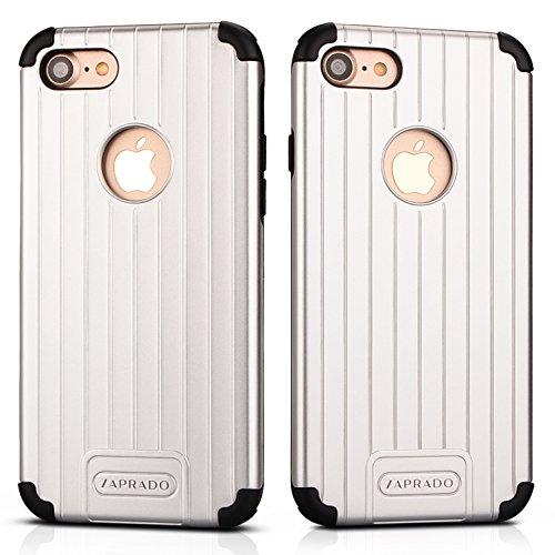 Zaprado Apple iPhone 6s / 6 Hülle Anti-Shock Hybrid Technology Bumper stoßfest und edel im Design, COLOR:Silber silver