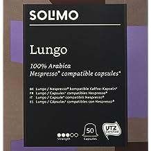 Marchio Amazon- Solimo Capsule Lungo, compatibili  Nespresso*- caffè certificato UTZ, 100 capsule (2 x 50)