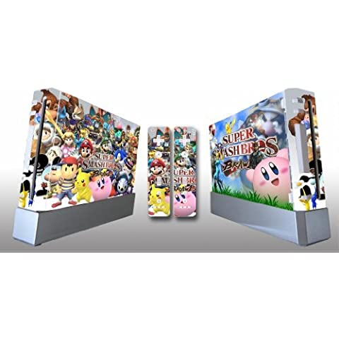 Super Smash Bros Brawl Skin Sticker Cover For Nintendo WII Console and 2 Remotes by firststicker