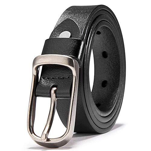 Cinturón De Cuero De Cuero Puro Para Cinturón Regalos Hombres Para Jóvenes Jóvenes Mareas Simples Gente Cintura Fashion (Color : Colour, Size : 105cm)