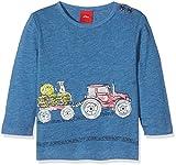 s.Oliver Baby-Jungen Langarmshirt 65.708.31.7207, Blau (Blau Melange 5385), 92