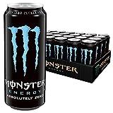 Monster Energy Absolutely Zero/Energie Getränk mit klassischem Monster-Geschmack aber Zero Zucker & wenig Kalorien/Energy Drink Palette/24 x 500 ml Dose