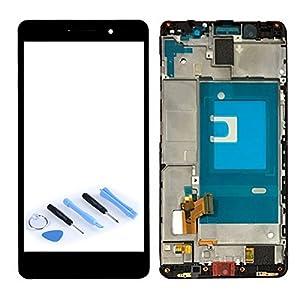 Display LCD Komplett Einheit mit Rahmen für Huawei Honor 7 Reparatur Schwarz + Werkzeug Opening Tool