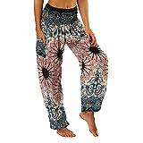 LANSKIRT_Pantalones Unisex Leggings Mujer Fitness Anchos Mujeres Hippie Pantalon de Yoga...