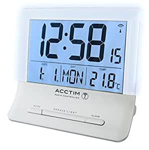 acctim glendale stylish jumbo lcd radio controlled alarm clock kitchen home. Black Bedroom Furniture Sets. Home Design Ideas