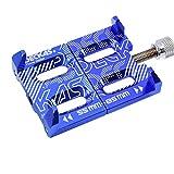 Ocamo Soporte de teléfono para Bicicleta, aleación de Aluminio, Soporte para teléfono móvil para Bicicleta de montaña, Azul
