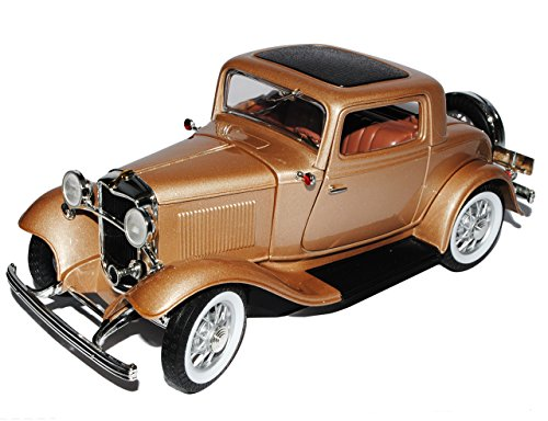 Ford 3-window Coupe 1932 Gold Hot Rod Oldtimer 1/18 Yatming Modellauto Modell Auto