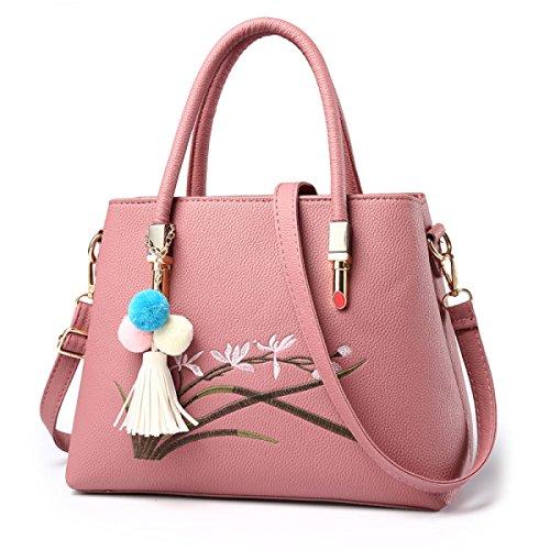 Damen Handtaschen Mode Umhängetasche Diagonal Paket Korean Version Soft Side PU Handtaschen Stickerei Thread Damen Tasche C