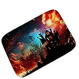 LJIE Halloween Party Fußmatte Teppiche Kürbislaterne Dekoration Tür Teppiche Rutschfeste Matten,60 * 90Cm