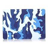ineway Étui de protection Coque rigide, lisse Mat pour Apple New MacBook 30,5cm 'avec écran Retina (modèle 2015A1534), 30,5cm cm, mélange de couleur, plastique, FL-Camo-blue, New Mac 12 inch case