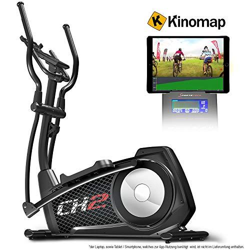 Sportstech CX2 Crosstrainer mit Smartphone App & integriertem Stromgenerator-Ellipsentrainer inkl. Bluetooth Konsole und Tablet-Halterung-Ergometer mit 27 Kg Schwungmasse