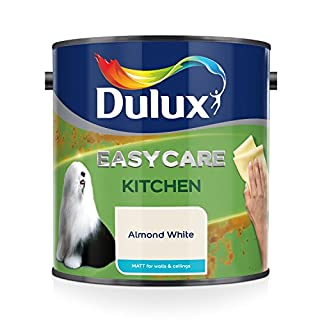 Dulux Easycare Kitchen Matt Emulsion Paint For Walls And Ceilings - Almond White 2.5L