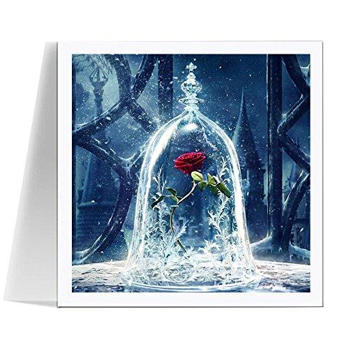 5d DIY Diamond Painting ba/ño Dibujo Imagen de Punto de Cruz Taladro Completo Mosaico de Diamantes Craft Rhinestone 3D Bordado Regalo MY3119-1,100cmX100cm Redondo