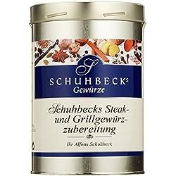 Schuhbecks Gewürze Steak- und Grillgewürz Gewürzmischung, zum Grillen und Braten, für Fleisch, Fisch, Marinaden & Gemüse, Gewürzsalz, Menge: 1 x 500 g