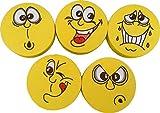 """5 verschiedene """"Smiley"""" Haftnotizen-Würfel / 150 Blatt je Block"""