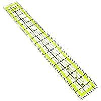 Arteza acrílico, regla y–2,5x 18inch–double-colored líneas de cuadrícula