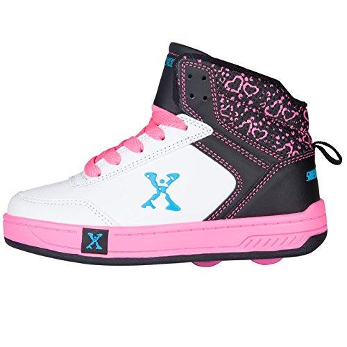 blk Sidewalk White Maedchen Sport Mit Rollschuhe Rollen Schuhe Top Kinder Hi pink Heelys rUPqwrB