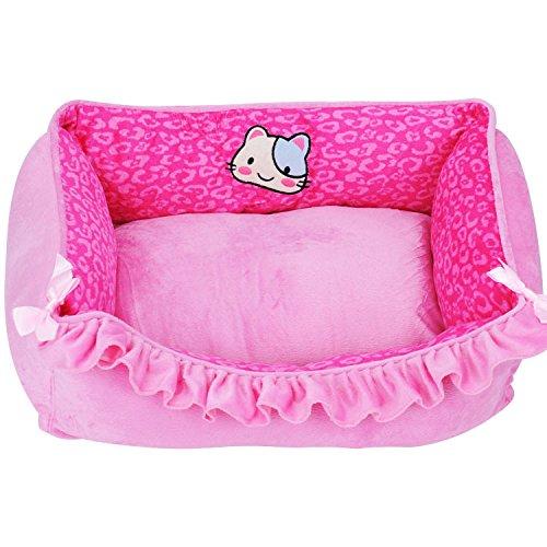 Dell'animale domestico del gatto del cane Coniglio casa beige Passepartout Kennel caldo cuscino lavabile removibile la copertura Cuscino Comfort Indoor , pink