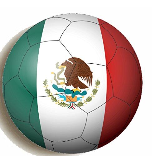 Geschenke Mexiko Kühlschrank Magnet Bedruckt 58mm große Unterstützung Bei die WM 2018Fußball Neuheit Geschenk (Unsere Stadt Kostüme)