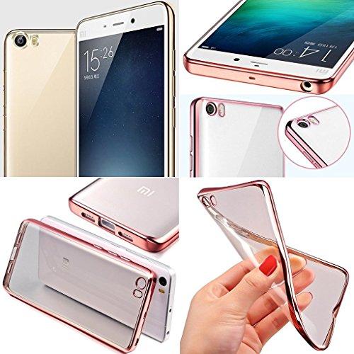 UKDANDANWEI iPhone 6 6s Hülle - Ultradünnen TPU Case Schutzhülle Kristall Löschen Bling transparent Silikon Tasche für iPhone 6 6s Schwarz Rose Gold