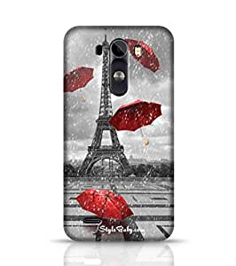 Style baby Eiffel Tower With Flying Umbrellas LG G3 Phone Case