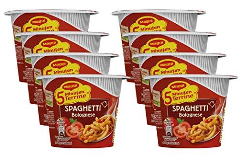 Maggi 5 Minuten Terrine Spaghetti Bolognese, 8er Pack (8 x 60 g)