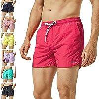 29035d48fe8b1 MaaMgic Men Swimming Shorts Classic Mesh Lined Surf Trunks Quick-Drying  Beach Shorts Adjustable Drawstring