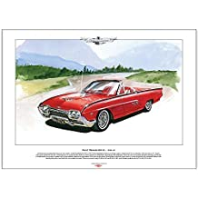 Ford Thunderbird Sport Roadster (1961–63) Classic Car Stampa, formato A3 - 1960 Chevy Truck